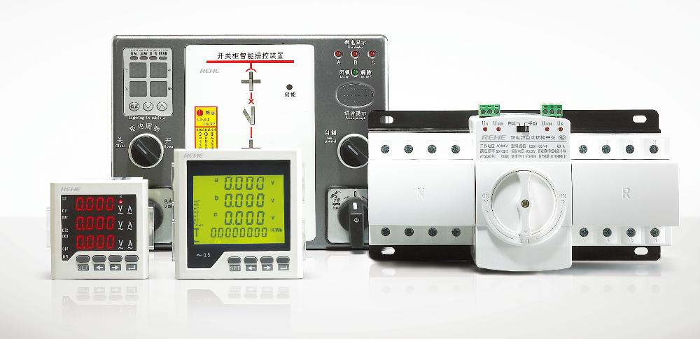 Low Price Five Rows Display Panel Meter 3 Phase Digital A V Hz ...