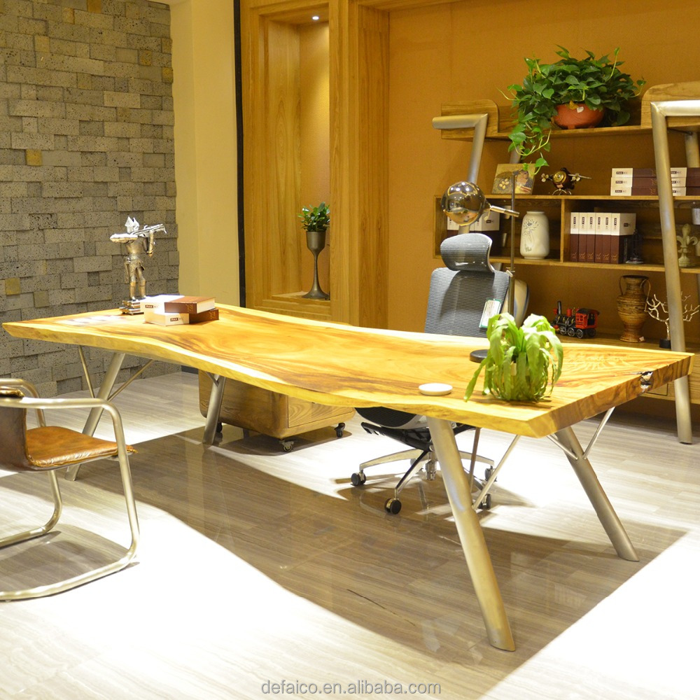 Rustic Americana Hardwood Executive Desk Home Office: Imported Furniture China Industrial Office Elegant