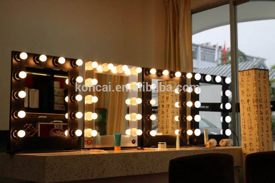 Professional Lighting Makeup Mirror Lighted Makeup Mirror With Stand Makeup Mirror With Aluminum Frame And 12 Pcs Light Bulbs Buy Lighted Makeup