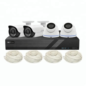 4CH POE NVR Kit, Onvif 4 Channel POE NVR Kit, Bullet And Dome Camera Cloud POE NVR 4 CH