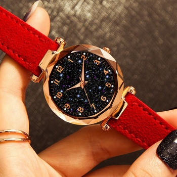 Women's Bracelet Quartz Starry  Wrist Watches New Fashion Women Watches 2019 Best Sell Star Sky Dial Luxury