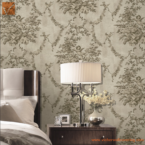 Classic Royal And Comfort Room Wallpaper Design For Master Room
