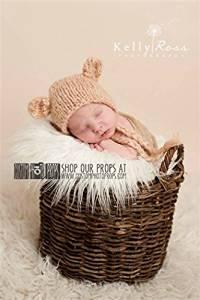 Brock Bear Newborn Baby Hat Photography Prop, Baby Props, Photo Props, Handmade Hat, Baby Hat, Yarn, Mouse, Animal, Newborn Props, Props