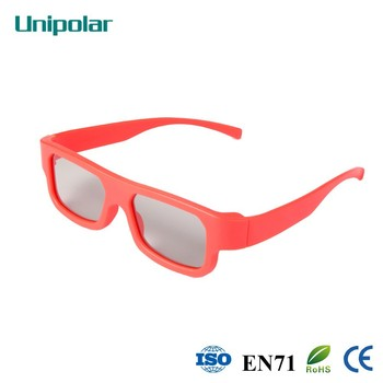 Newest colorful circular passive 3D glasses