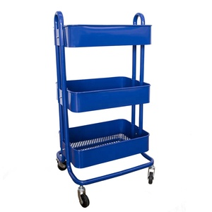 Upgrade hardening poder coating Metal service trolley hand carts