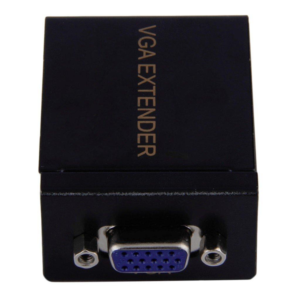 60 M Signal Signal Extender VGA to RJ45 Ethernet Transmitter Receiver Set -Techhmonster