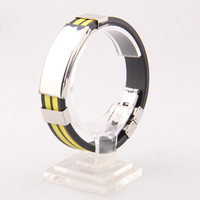 Manufacturing Printed & Engraved Silicone Bracelet Wristband Band Custom Design With Metal Clasp