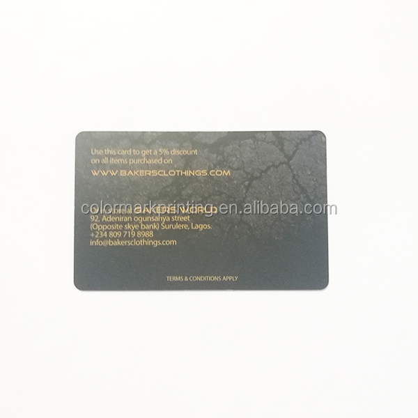 Factory Supply Business PVC  Plastic Member Card With Dull Polish Finish Printing
