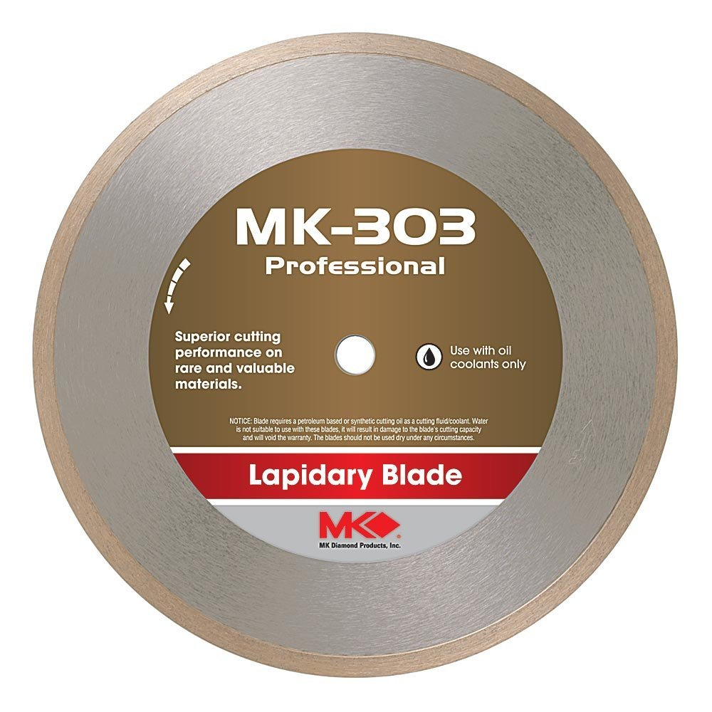 MK Diamond 156725 MK303 10-Inch Wet Cutting Lapidary Diamond Blade