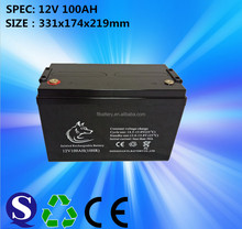 Longer Cycle Life Battery 12V/100Ah, for Air Conditions Back-Up Power, Solar Lamp