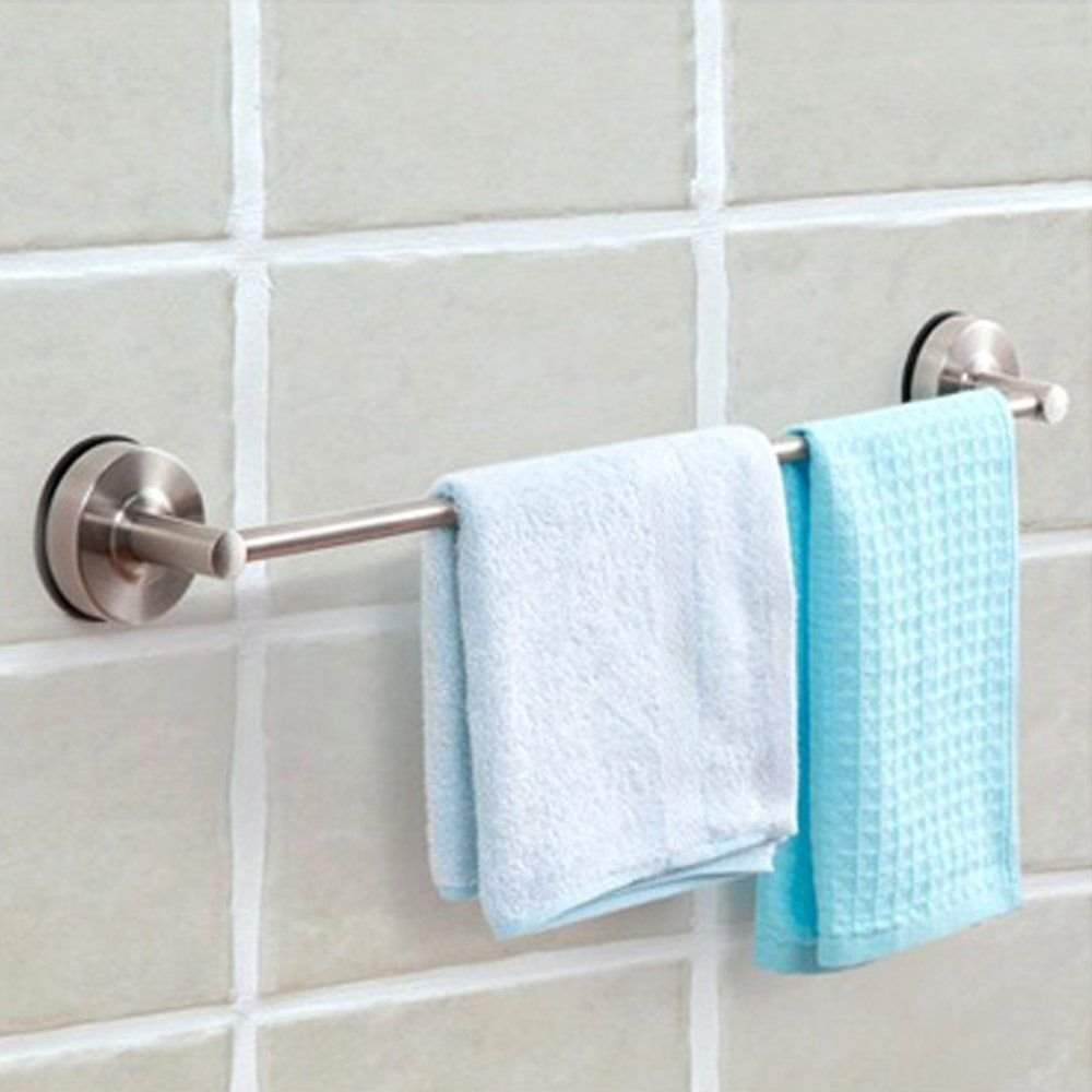 Get Quotations Suction Cup Single Towel Bar Sus 304 Stainless Steel No Drill Wall Mount