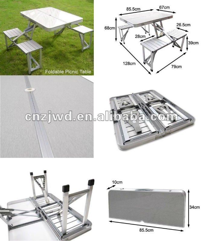 Folding aluminum picnic table with 4 chairs buy compact folding aluminum picnic table with 4 chairs buy compact lightweight mdf camping aluminum foldable tablefoldable portable picnic tablefold up camping watchthetrailerfo