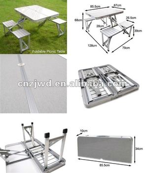 Folding aluminum picnic table with 4 chairs buy compact folding aluminum picnic table with 4 chairs watchthetrailerfo
