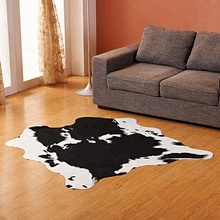 natural rubber big cow pattern animal carpet for living room