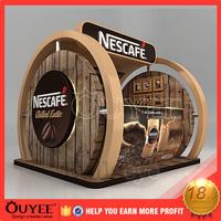 ouyee 1205 free design food kiosk with food bar shopping mall indoor snack food kiosk design for 3d 3d eyebrow kiosk