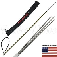 Scuba Choice Carbon Fiber 5' Travel Spearfishing Two-Piece Pole Spear 3 Prong Barb Paralyzer and Bag