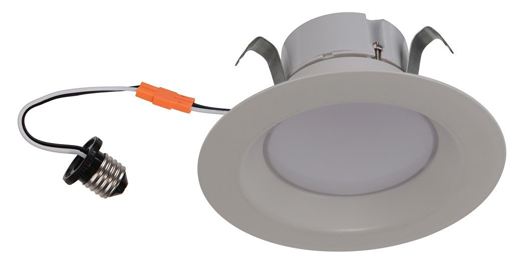 Goodlite G-83448 4 Inch Round Retrofit LED Recessed Lighting Fixture, 5000K Super White, Fully Dimmable Downlight, Energy Star, UL Listed, 10W (65W Replacement), CRI 90 750 Lumens,