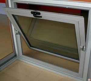 latest window grill design European style pvc awning window with frosted glass manufacturer in China