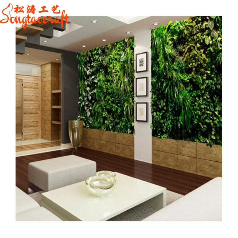 Fiber Panel Fake Plant Wall Decoration