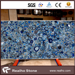 Luxury Polished Blue Agate Marble Slabs Price