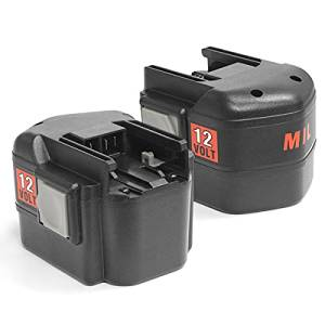2 x ExpertPower 12v 2000mAh NiCd Battery for Milwaukee 48-11-1900 48-11-1950 48-11-1960 48-11-1967 48-11-1970 B12 MXL12