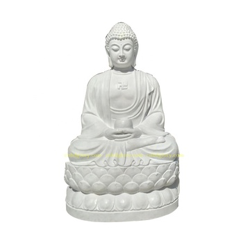 Buddhism temple decor sculpture Marble Sitting Buddha Statue