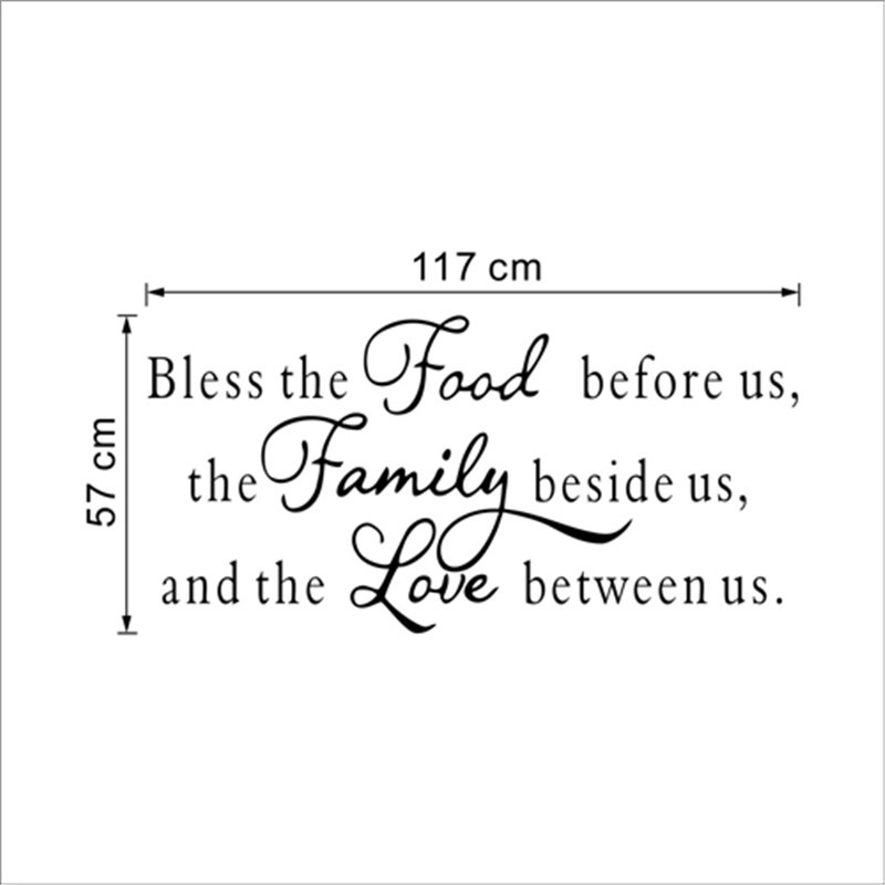 colorcasa ingles citas vinilo etiqueta de la pared de comida el