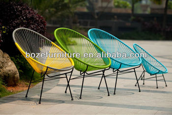 Best Seller Outdoor Furniture/ Garden Oval Rattan Furniture Chair/ Colorful  Used Egg Chair For