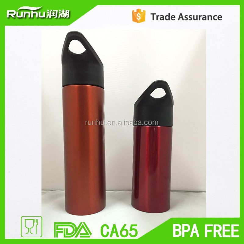 500 & 750ml eco friendly FDA approved easy handle matt surface Stainless steel sports bottle with flip n sip lid RH402-500