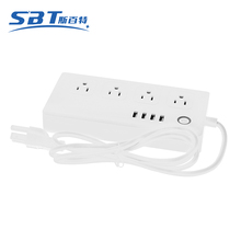 2017 Newly WiFi Smart Plug Individual Remote 4 Ports Timing Plug Power Strip With 4 USB Outlets