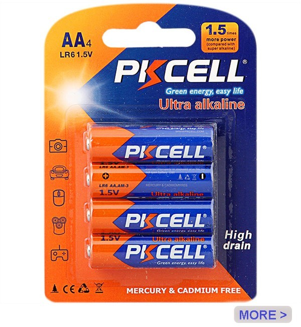 PKCELL 1.5v Lr03 Triple A Alkaline Battery