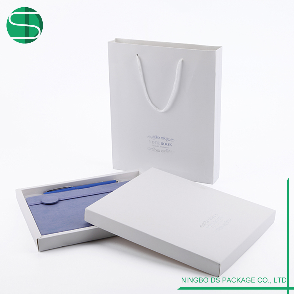 Excellent Quality PU Cover Leather Notebook With Gift Box Gift Bag
