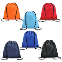 OEM mixed color polyester draw string bag 210D drawstring backpack
