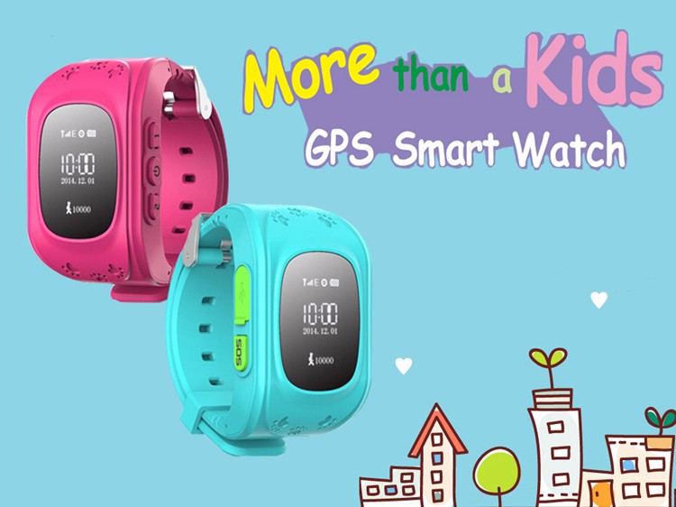 2016 Kid Smart Watch Q50 GPS Location SOS Call Safe Wristwatch Finder Locator Tracker Watch for Kid Child Anti Lost