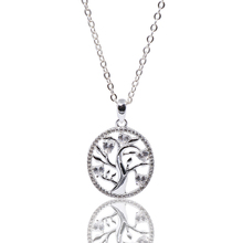925 Sterling Silver Tree Of Life Collana Del Pendente Per Le Donne