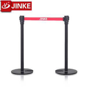 Beltrac Stanchions U Shape Stackable Barrier Posts/Black Steel Stanchions Crowd Control
