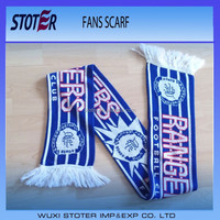 custom design acrylic football soccer fans scarf