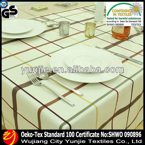 100 polyester printing cafe tablecloth fabric