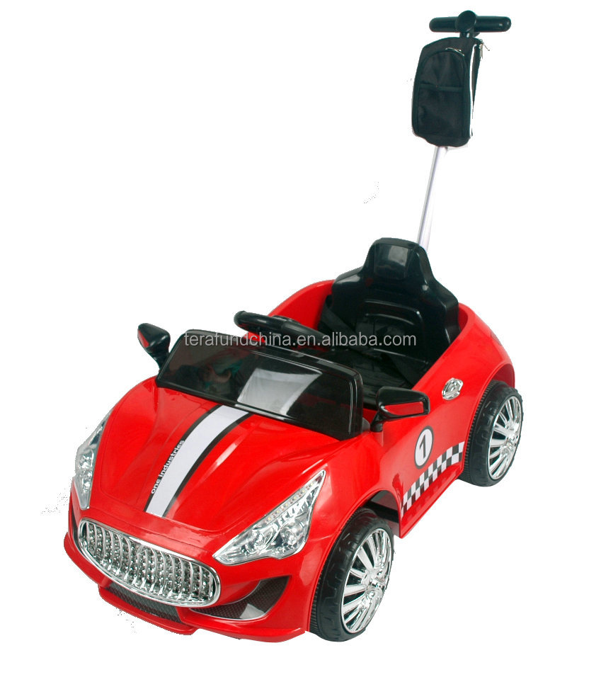2014 12v kids battery operated car with push bar
