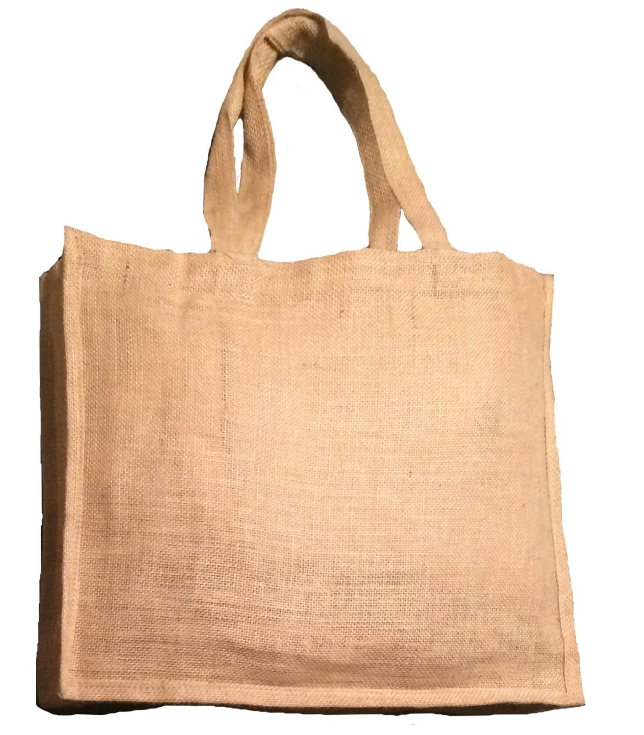 309517590 Get Quotations · Pack of 6 Natural Color Jute Burlap Shopping tote bag with  Jute handles unlaminated from inside