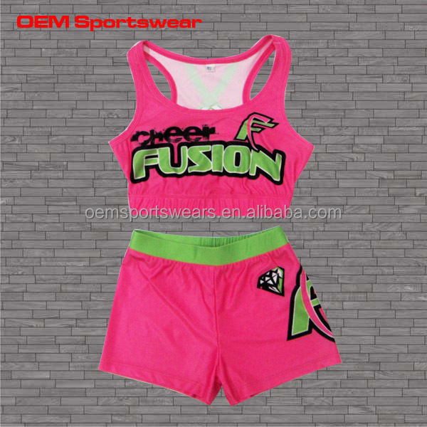 2014 sublimated Girls glee cheerleader costume