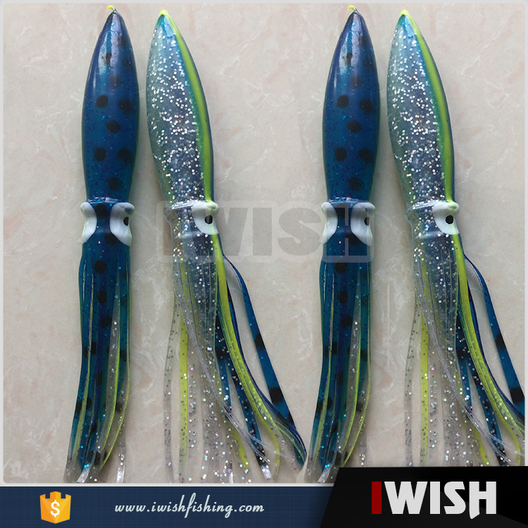 Tuna & Marlin Fishing Spreader Bar Splash Bulb Squid Lures