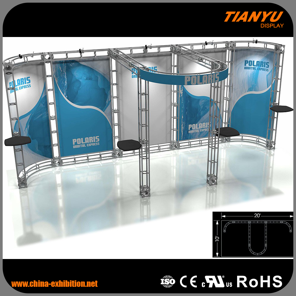 truss aluminum roof customize size truss booth exhibition booth system