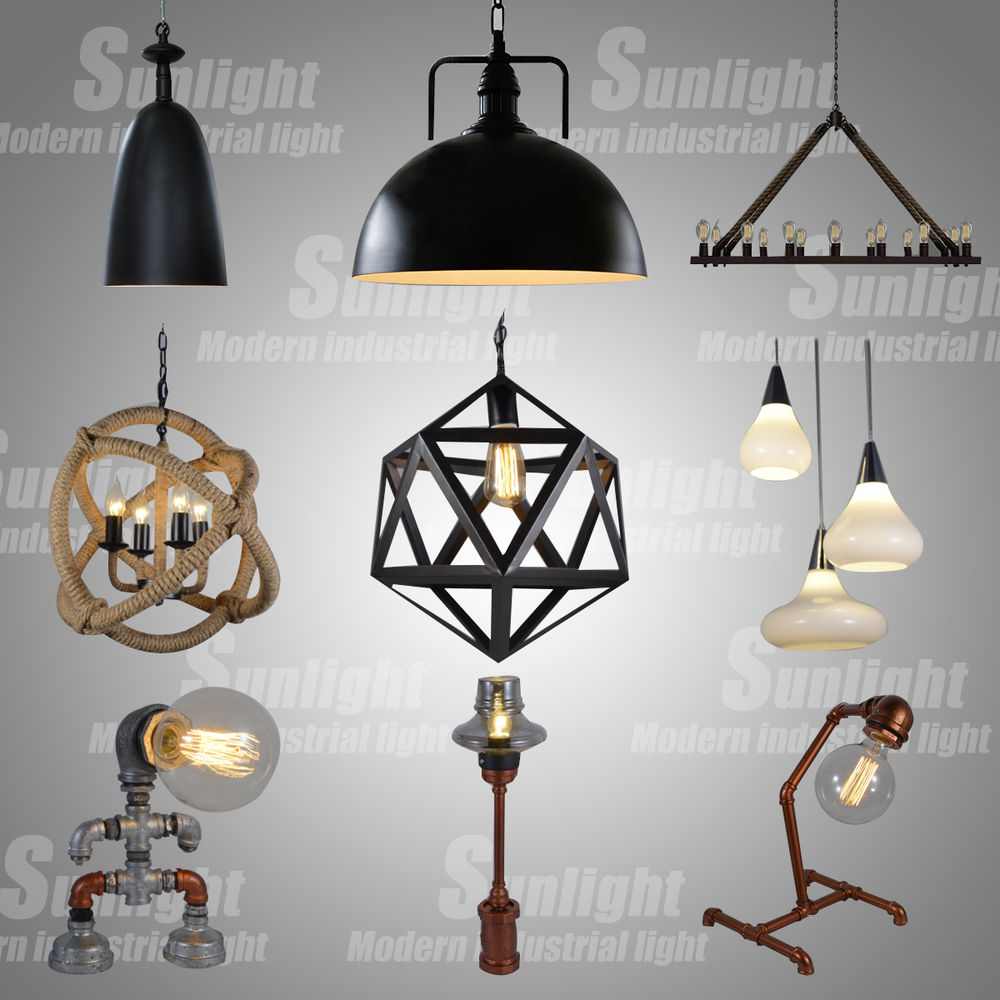 2017 Vintage Decoration Iron Net Loft Pendant Light Modern Chandelier Bird Cages Lamp