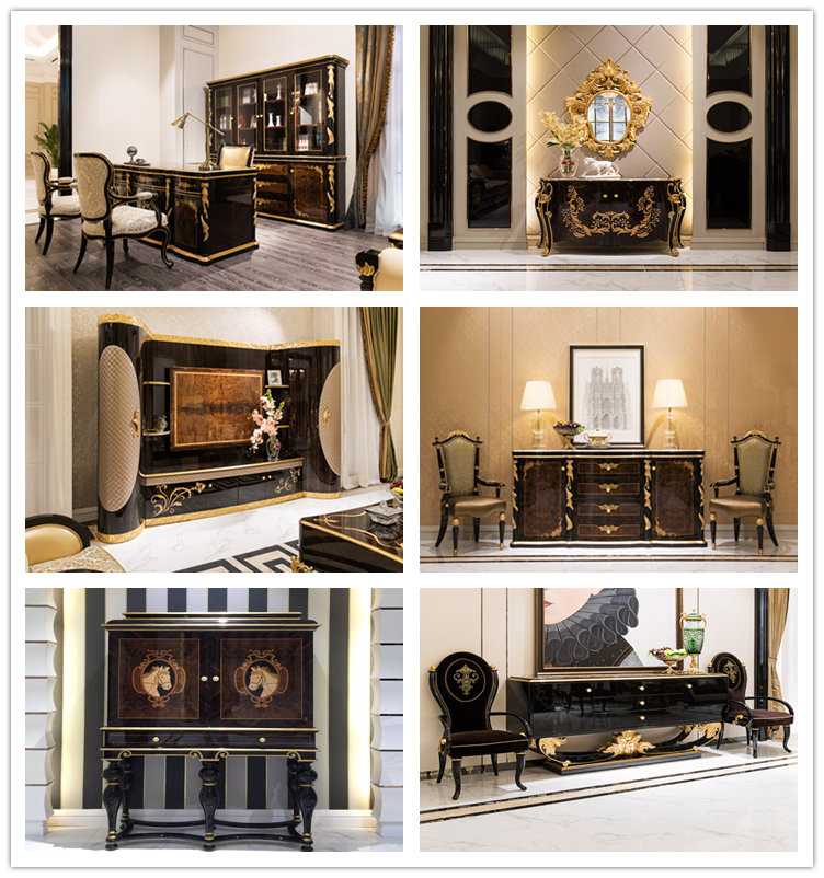 TI010-luxury Furniture And Luxury Golden Living Room
