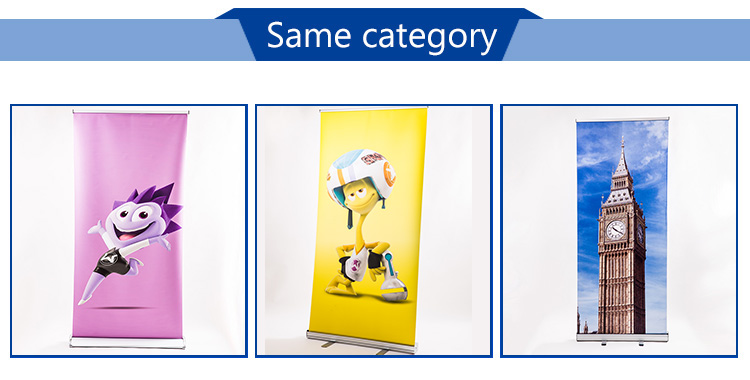Cheap portable advertising aluminum roll up banner