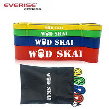 two color 4pcs Mini fitness custom resistance exercise band