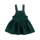 Hot Sale Baby Solid Dress Infant Clothes Corduroy Fabric Frock Design Sleeveless