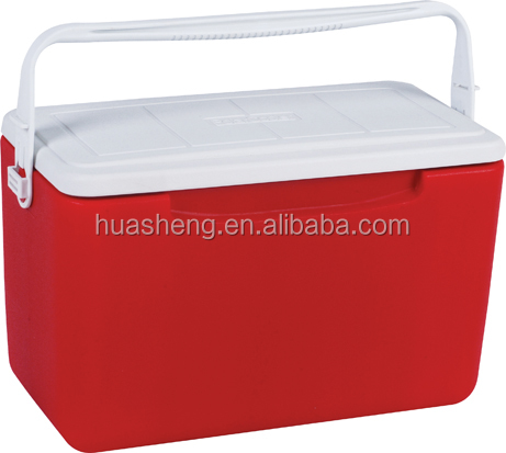 Ice cooler box for car ice chest and camping