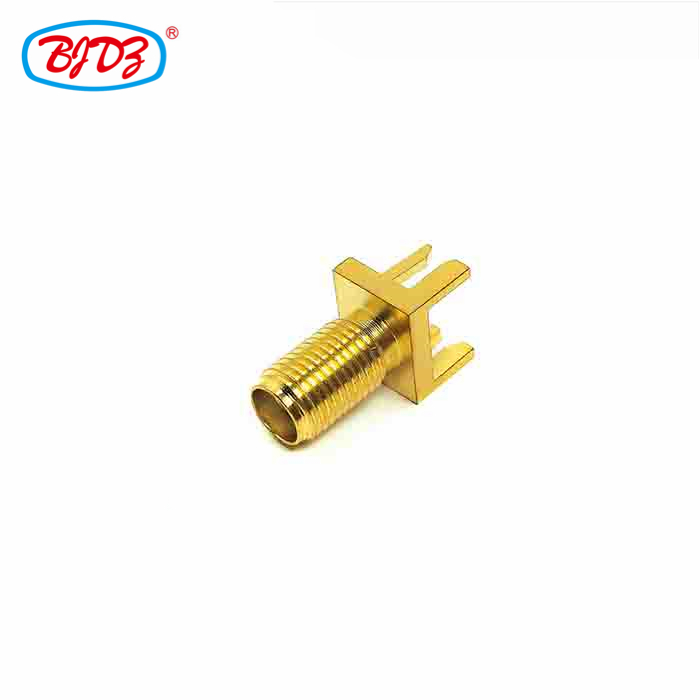 O-ring screw SMA F B-H RF Coaxial cable connector for 8MM*9MM PCB bulkhead mounted BH female jack antenna sma connector pcb